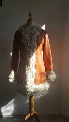 Rare Penny Lane 60 's 70 's leather coat by VintageShoponWheels