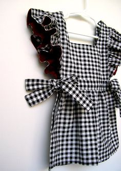 Pinafore apron top - very cute idea.