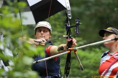 "helenshoots: "" Naomi Folkard shoots at the World Archery Field Championships, Zagreb. Source (x) """