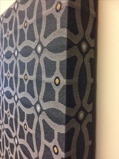 Acoustic Panel with Linden Park Graphite fabric from Robert Allen Design Akustik by homecoustics Acoustic Fabric, Acoustic Wall Panels, Acoustic Diffuser, Music Studio Room, Recording Studio Design, Simple Pictures, Isolation, Sound Proofing, Panel Art