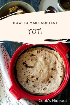 Rotlis are super soft paper thin rotis that need just 2 basic ingredients. They are easy to make and make any meal special when served with a yummy side dish. #cookshideout #indian #flatbread