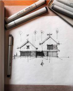 Architecture sketchbook, architecture plan, schematic design, perspective d Architecture Design Concept, Architecture Plan, Classical Architecture, House Minimalist, Architecture Drawing Sketchbooks, Architectural Section, Architectural Sketches, Architectural Photography, Schematic Design