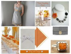 Orange and gary