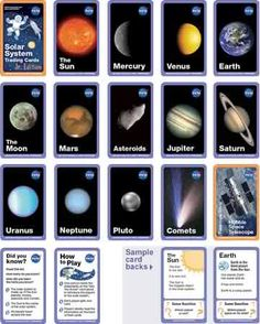 Free pdf download NICE. This collection of seventeen cards depicts solar system objects such as planets, comets, asteroids, the Moon, and the Sun. Also included are cards with common misconceptions, Hubble trivia, online resources, and instructions for a game.