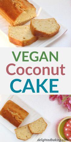 Coconut Cake Vegan Coconut Cake : Egg free and dairy free coconut loaf cake. A vegan coconut cake made from scratch.Vegan Coconut Cake : Egg free and dairy free coconut loaf cake. A vegan coconut cake made from scratch. Dairy Free Bread, Dairy Free Snacks, Dairy Free Breakfasts, Dairy Free Diet, Gluten Free, Dairy Free Baking, Coconut Loaf Cake, Vegan Coconut Cake, Cake Vegan