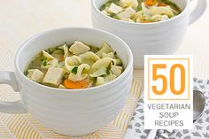 It's cold outside! Warm up with these 50 vegetarian soup recipes.