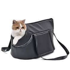 PET CARRIER LEATHER BLACK CARRIER
