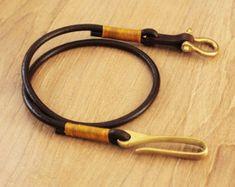 Schlüsselband Lanyard Leder Lederband Leder von Monkeychain196