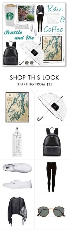 """One Day In Seattle..."" by hmytran ❤ liked on Polyvore featuring GALA, Thos. Baker, Kate Spade, Jet Set Candy, Balenciaga, Vans, River Island, Marni, Ray-Ban and rain"