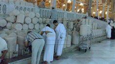 Quenching the sould: Drinking frol Makkah's zamzam well. Photo: Al Arabiya