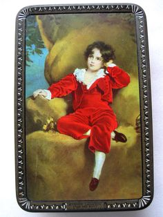 VINTAGE WILKINS ENGLAND TOFFEE TIN THE RED BOY Thomas Lawrence