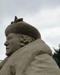 Zandsculptuur Wilhelmina