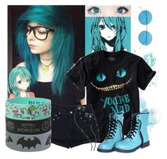 """""""We're all mad here"""" by natsuko-yuuki ❤ liked on Polyvore featuring Disney, Skullcandy and Illesteva"""