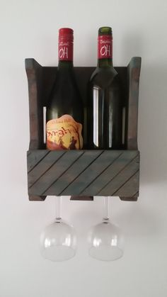 Wine Rack Small Wine Rack Rustic Wine Rack Rustic Decor Wooden Shelf Wall Decor…