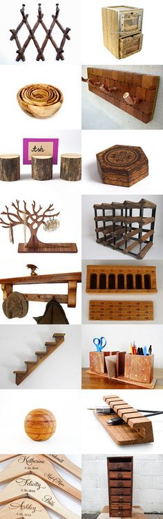 Keep Organized With Wooden Decor by slottevm on Etsy--Pinned with TreasuryPin.com
