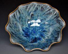 Blue Midnight Pottery Bowl Stoneware Ceramic by darshanpottery