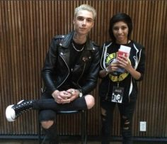 Andy with a fan