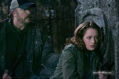 Supernatural - Publicity still of Samantha Ferris & Jim Beaver