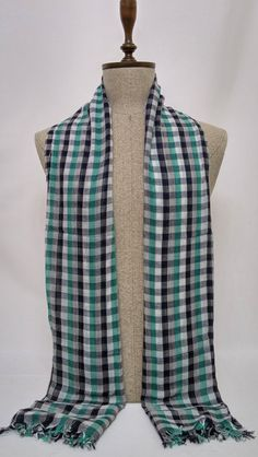 Black, Grey, Green Men Scarf - Black, Grey, Green Unisex Scarf - Black, Grey, Green Soft Cotton Women Scarf - SC354 #handmadeatamazon #nazodesign