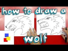 ▶ How To Draw A Wolf - YouTube
