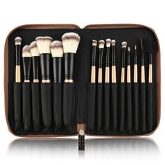15 Pcs Golden Brush Set