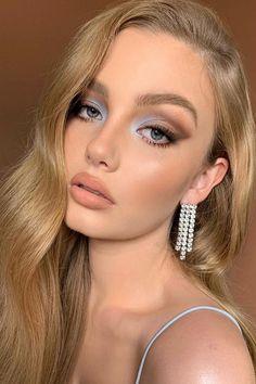 30 Wedding Makeup Ideas For Blue Eyes ❤ makeup ideas for blue eyes blue brown matte nude lips boujeey #weddingforward #wedding #bride #weddingmakeup #makeupideasforblueeyes