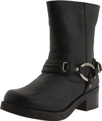 Harley-Davidson Women's Christa Motorcycle Harness Boot, Black, 5 M US. Mid-calf harness boot with oval logoed hardware and stacked block heel. Harley Boots, Womens Harley Davidson Boots, Motorcycle Riding Boots, Thing 1, Cool Boots, Women's Boots, Fashion Boots, Black Boots, Just For You