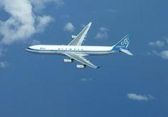 Olympic Airways Airbus 340 Airplane in flight