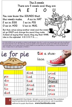 One of the worksheets from the series. There are easy to follow teaching instructions given in the lilac boxes so that you as a parent know how to use the page effectively.