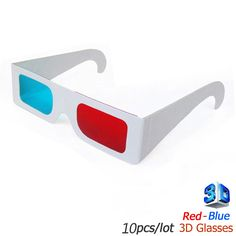 10pc / lot Universal Paper 3D Glasses 3d virtual video View Anaglyph Red Cyan Red/Blue 3d Glass For Movie  #Affiliate