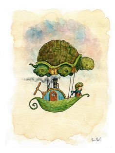 Hey, I found this really awesome Etsy listing at https://www.etsy.com/listing/245291976/cutepunk-turtleship-watercolor-print