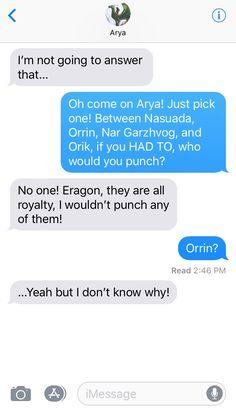 Eragon and Arya texting