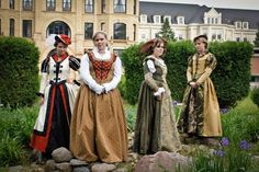 CUSTOM Tudor Court Renaissance High Collared Riding Dress Outfit Costume- 4 pieces include 2 skirts, jacket and hat. $675.00, via Etsy.
