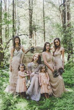 Bohemian luxe done beautifully with these bridesmaids - shot by WHITE Magazine. We love the blush tones and romantic feel.