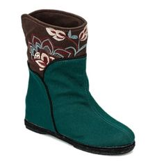 Embroidery Color Block Mid-Calf Boots #>=#>=#>=#>=#> Click on the pin to check out discount price, color, size, shipping, etc. Save and like it!