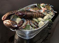 Fake Food Bucket of Seafood on Ice