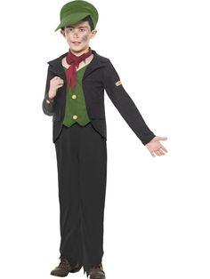Horrible Histories Engelse Schoorsteenveger Jongen Kostuum - Feestkleding 365