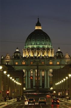 Vatican City Night Lights