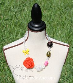 Fun statement necklace - On SALE: $22.50 http://facebook.com/armcandyauctions