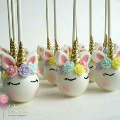 Unicorn inspired cake pops