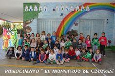 """EL MONSTRUO DE COLORES SE HA COLADO EN NUESTRO COLE ¿QUÉ LE PASARÁ?   BIBLIOTECA ESCOLAR COLEGIO EDUCACIÓN INFANTIL """"RIO EBRO"""""""