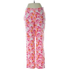 Pre-owned Lilly Pulitzer Casual Pants Size 2: Pink Women's Pants ($32) ❤ liked on Polyvore featuring pants, pink, lilly pulitzer pants, pink trousers, pink pants and lilly pulitzer
