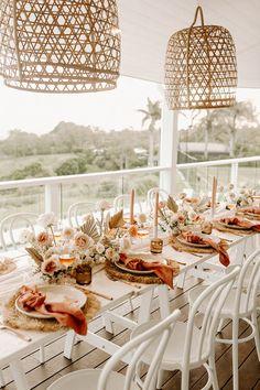 Beige Wedding, Boho Wedding, Floral Wedding, Dream Wedding, Bridal Shower Decorations, Wedding Decorations, Boho Chic, Modern Bohemian, Wedding Table Settings