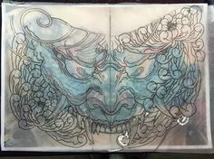 """@edmund_seah on Instagram: """"Hannya chest piece for a cover up."""""""