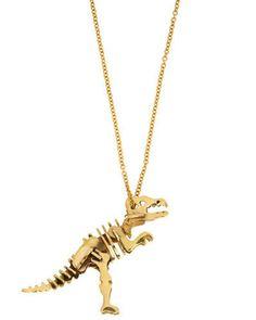 """Distinct Extinction"" T-Rex Necklace. Jewelry Box, Jewelry Accessories, Fashion Accessories, Jewelry Necklaces, Unique Jewelry, Bracelets, Vintage Necklaces, Jewlery, By Any Means Necessary"