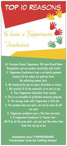 Let me help your Group or Organization Raise $$ this Spring!!  Tupperware's Exclusive Line gives 40% CASH! Like it a Little... Place an Order; Like it a lot...Book a Party; Like it ALL?...Become a Consultant! www.My.Tupperware.com/NikkiMcLaughlin
