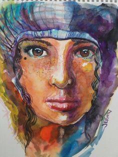 """""""Breakeven"""" Watercolor on Fabriano paper"""