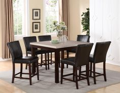 Tahoe driftwood grey 5pc counter height dinette set 429 for Table 6 greensboro nc