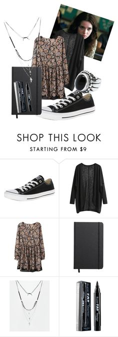 """""""Lena Duchannes ~ beautiful creatures look"""" by alaska-moon ❤ liked on Polyvore featuring beauty, Alden, Converse, Shinola, ASOS and NYX"""
