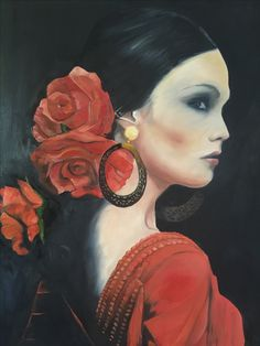 Spanish woman series 2 oil painting 1200x 800